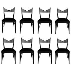 Set of Eight Sculptural Dining Chairs by Paul McCobb for Calvin