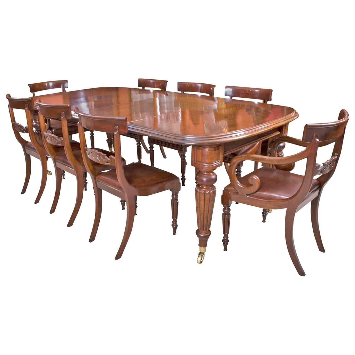 Antique Victorian Mahogany Dining Table Eight Regency  : 4090333z from www.1stdibs.com size 1500 x 1500 jpeg 111kB