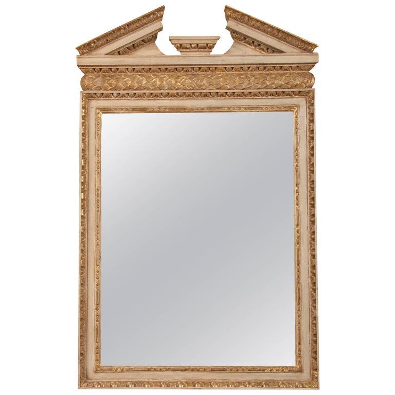 English George II Parcel-Gilt Mirror