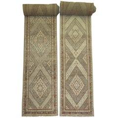 Rare Set of Antique Khotan Runners each measuring over 33 ft long