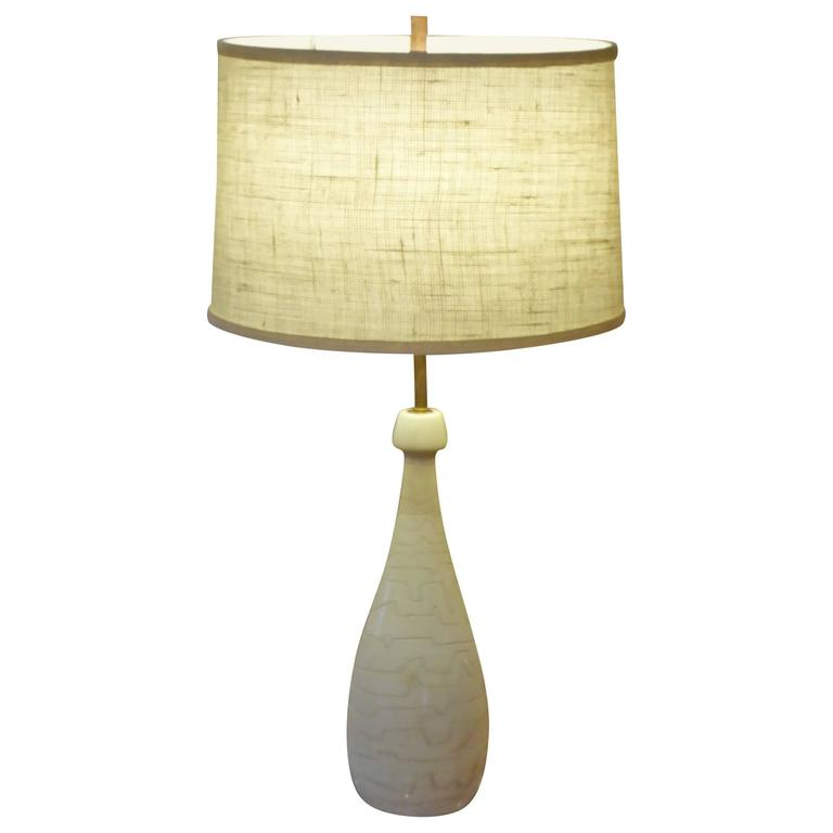 1950s Italian Modern Marble Teardrop Table Lamp For Raymor For Sale