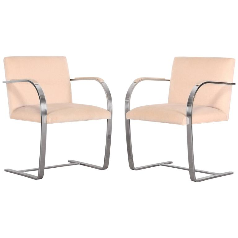 Pair of Brno Stainless Steel Chairs for Knoll, 1970