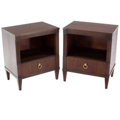 Pair of John Stuart Neoclassical Nightstands End Tables