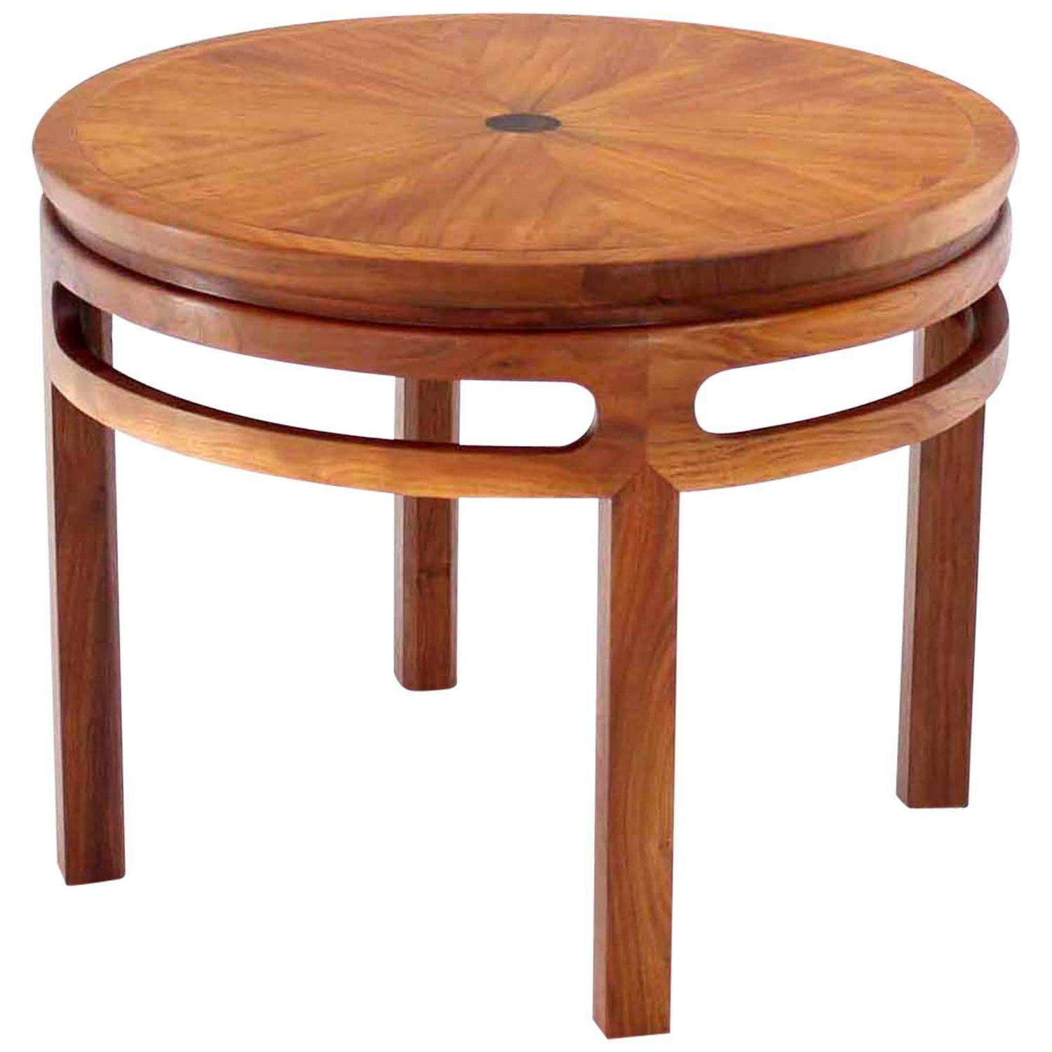 Baker Coffee Table Round: Baker Round Walnut Table At 1stdibs
