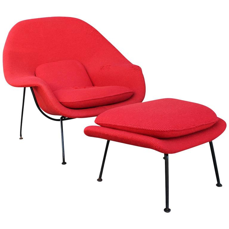 this eero saarinen womb chair and ottoman for knoll is no longer