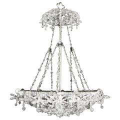 Antique Chandelier. Crystal Pendant Plafonnier