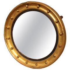 Early 20th Century Gilded Butlers Convex Mirror, circa 1900