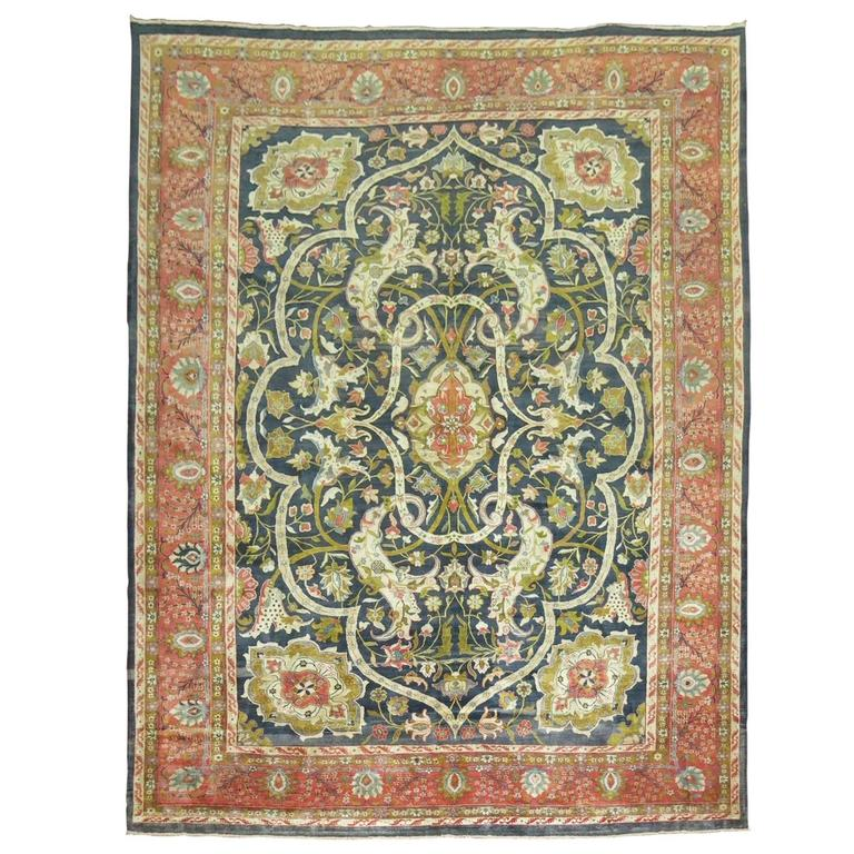 Antique Indian Agra Rug For Sale At 1stdibs: Antique Indian Larestan Rug For Sale At 1stdibs
