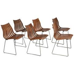 """Hans Brattrud Rosewood """"Scandia"""" Dining Chairs"""