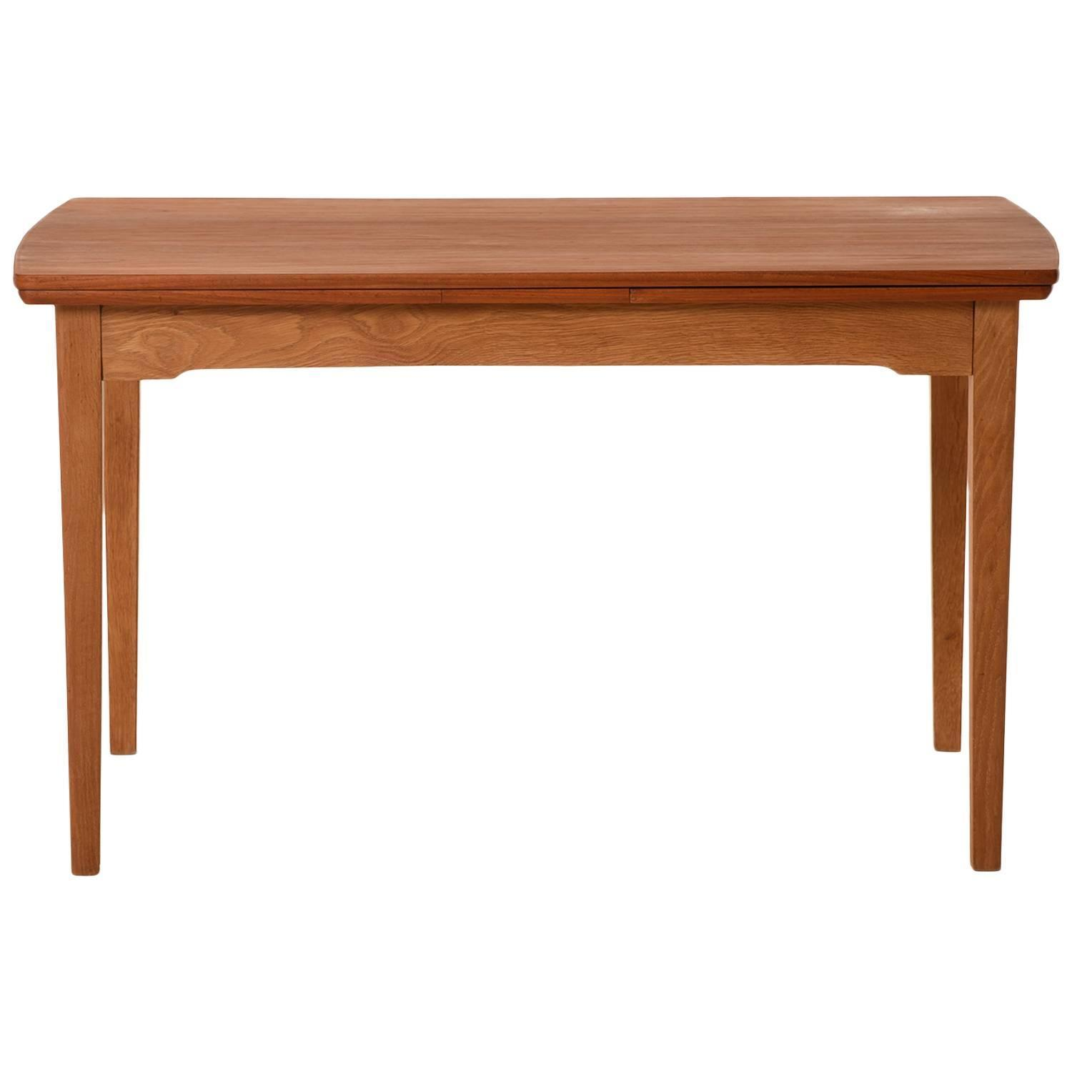 Danish Modern Draw Leaf Extension Table For Sale At 1stdibs