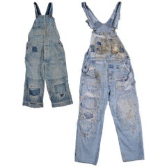 Mended, Patched, Embroidered and Quilted Overalls