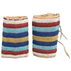 Native American Ankle Cuffs, Crow, 19th Century