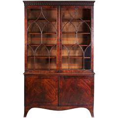 George III Gothic Mahogany Bookcase