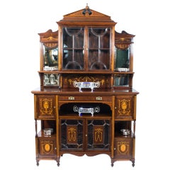 19th Century Edwardian Rosewood Inlaid Cabinet