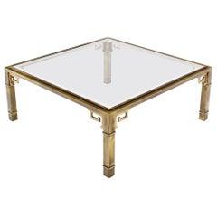 Large Square Mastercraft Greek Key Coffee Table
