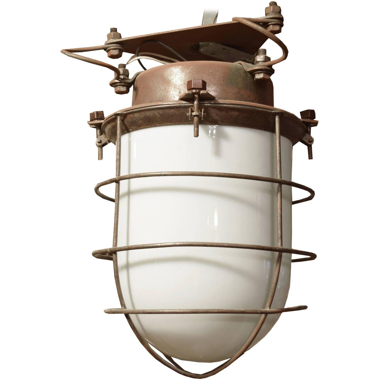explosion proof light fixture at 1stdibs. Black Bedroom Furniture Sets. Home Design Ideas