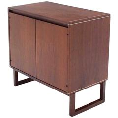 Two Door Teak Petit Short Two Doors Credenza Cabinet