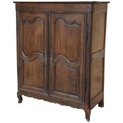 French Two-Door Oak Armoire