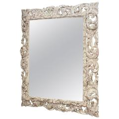 18th Century Foliate-Carved Wood Mirror Frame