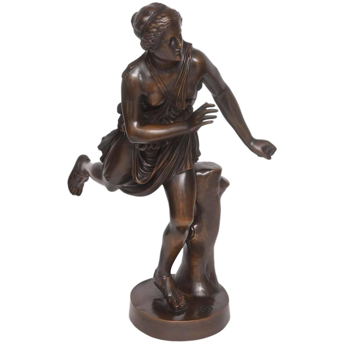 Bronze Sculpture of Atalanta by the F. Barbedienne Foundry