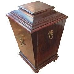 Rare Diminutive Antique English Mahogany Cellarette Wine Cooler