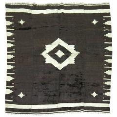 Vintage Mohair Navajo Style Rug