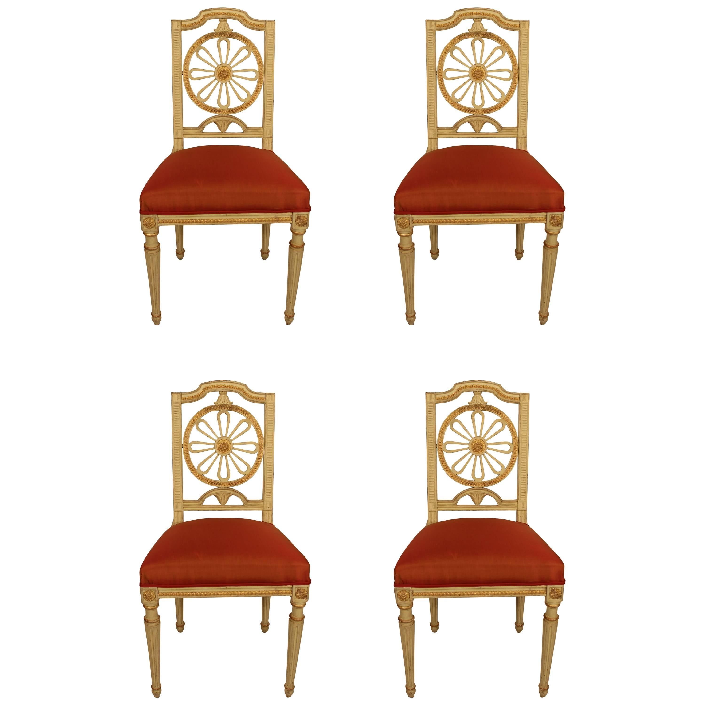 Set of Four Gustavian Chairs, Sweden beginning of 19th century