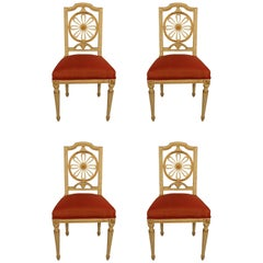 Set of Four Gustavian Chairs