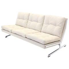 Mid-Century Modern Chrome Sofa New Upholstery Fabricius & Kastholm for Bo-Ex