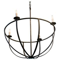 "Custom Hand-Forged Round  Iron ""Pike"" Chandelier"