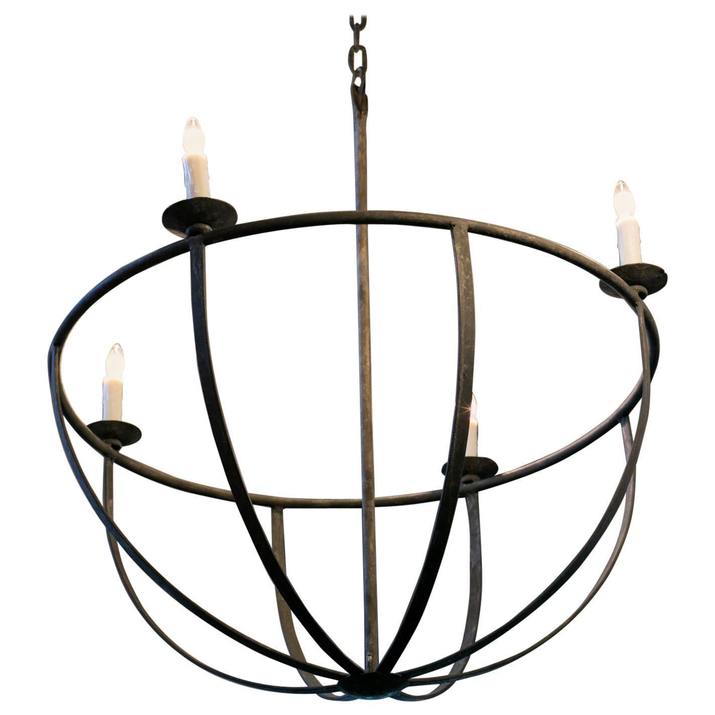 Handmade iron pike chandelier for sale at 1stdibs for Unique chandeliers for sale