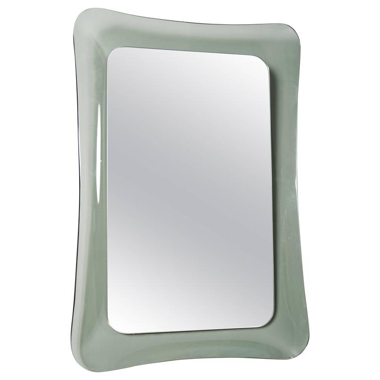 mirror in concave glass frame for sale at 1stdibs
