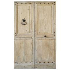 Pair of Antique 18th Century Entrance Doors from St. Marcellin
