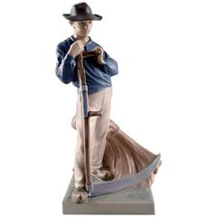 Royal Copenhagen Figurine No. 685, Harvesting Worker with the Scythe