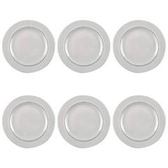 Four Lunch Plates, Aluminia Blue Line, Earthenware