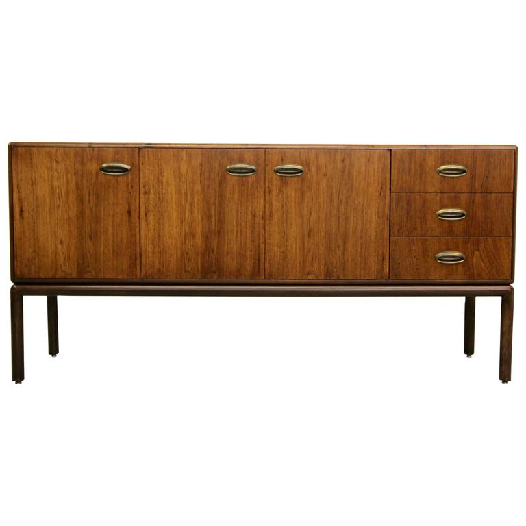 Gorgeous Mid Century Sideboard Buffet With Brass Handles At 1stdibs