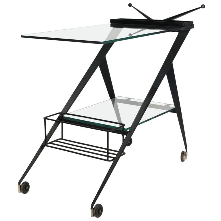 1950s Table on Wheels by Angelo Ostuni