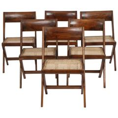 Set of Six Chairs by Pierre Jeanneret (1896-1967)