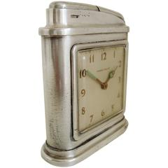 American Streamline Modern Automatic Clock and Table Lighter by Phinney-Walker