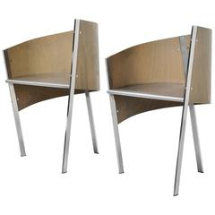 Paolo Pallucco Pair of Side Chairs, Italy, 1987