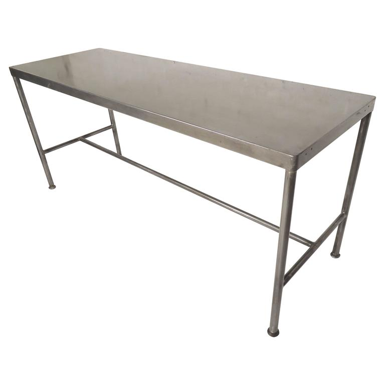 Long Industrial Table Restored For Sale at 1stdibs : 4104623l from www.1stdibs.com size 768 x 768 jpeg 20kB