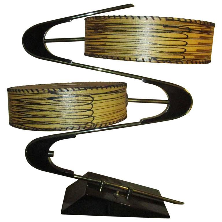 Majestic Boomerang Or Quot Z Quot Table Lamp Fiberglass Drum