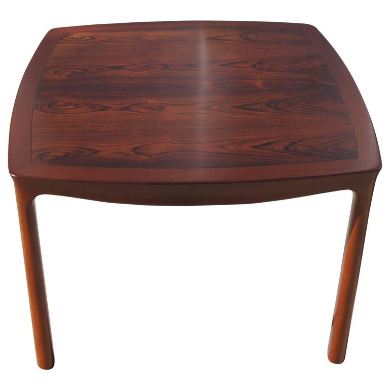 Rosewood and Mahogany Side Table by Edward Wormley for Dunbar