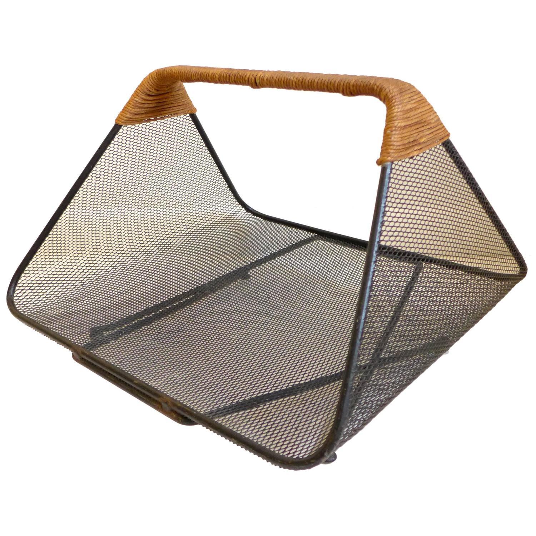 sleek tony paul log holder or magazine rack at 1stdibs