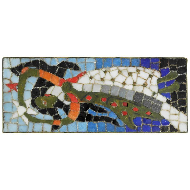 Salvador Teran Brass Mosaic Box