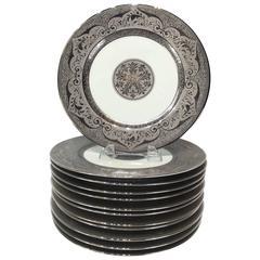 12 Platinum Encusted  Service Plates