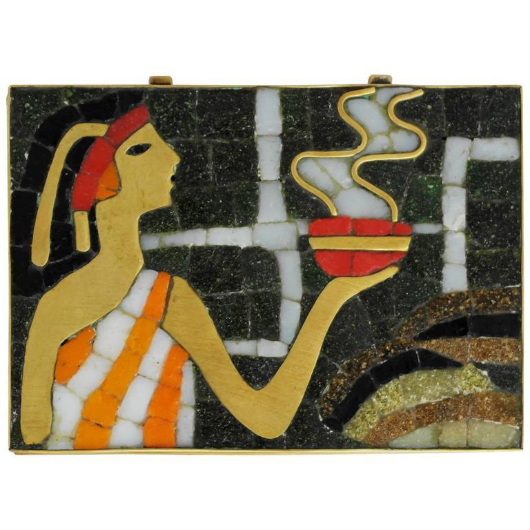 Salvador Teran Mosaic Glass Decorative Box