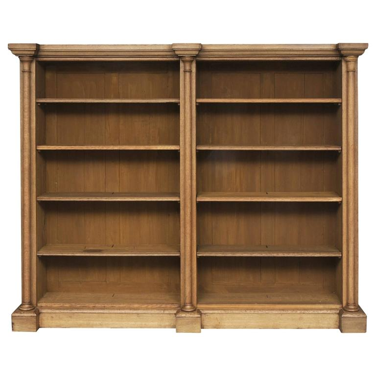 William IV Bleached Oak Library Open Bookcase, Circa 1830