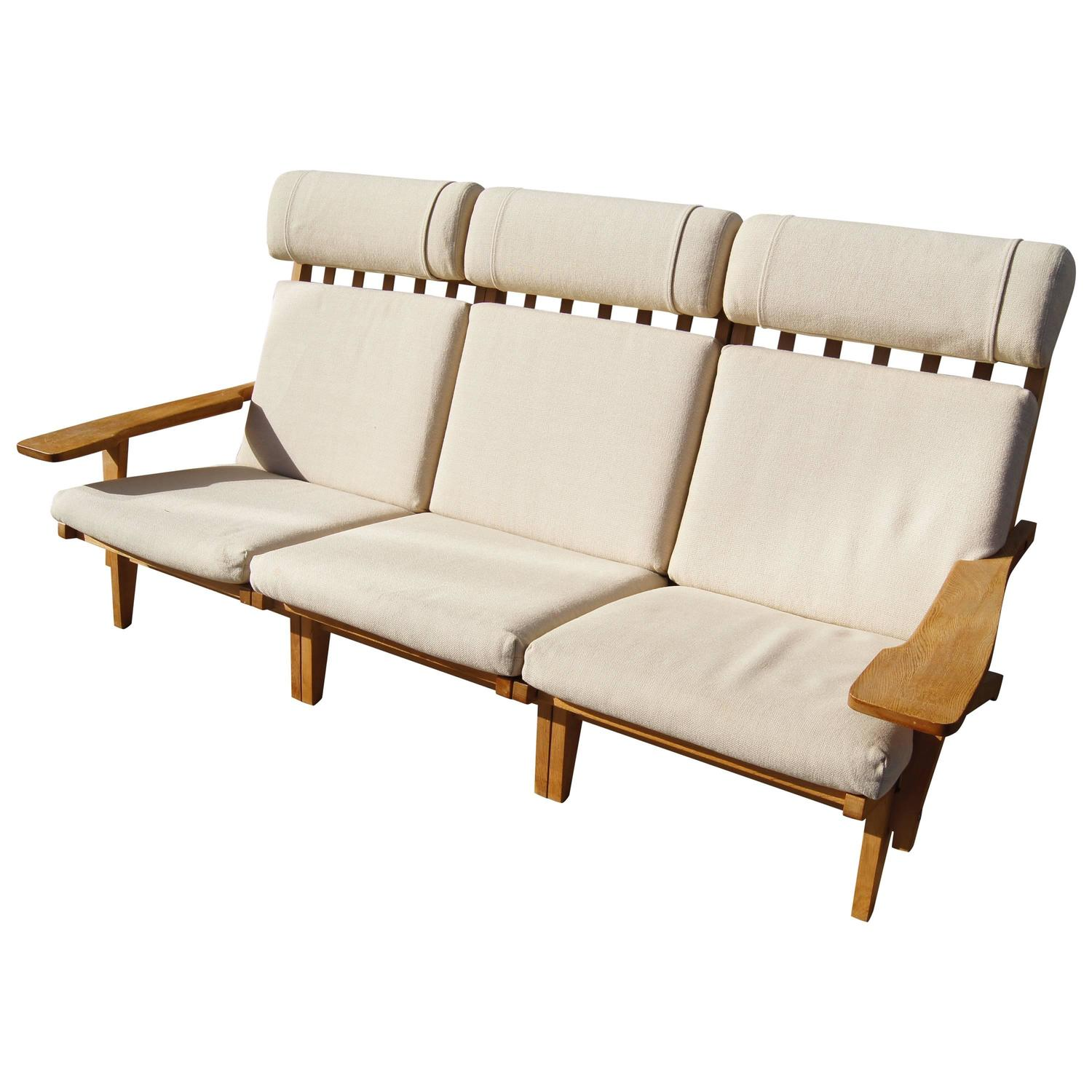 Convertible High back Sofa in Oak by Hans Wegner for Getama For