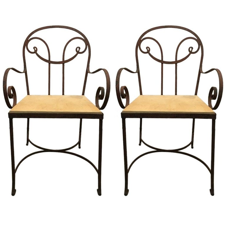 Pair of Regency Garden Chairs, 1940 For Sale